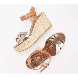 Sam Edelman 9.5M Darline Braided Wedge Sandals
